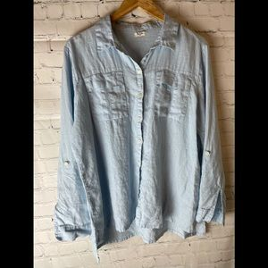 Symple NYC Linen Shirt Size Large